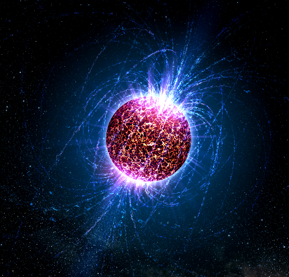 Illustration of a neutron star. Image credit: Casey Reed - Penn State University