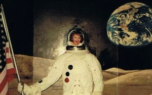 Kerry Leonard as a Child at the Kennedy Space Center